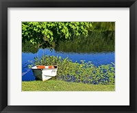 Framed Country Pond Row Boat