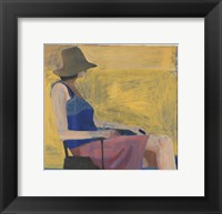 Framed Seated Figure with Hat, 1967
