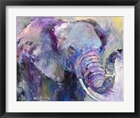 Framed Blue Elephant