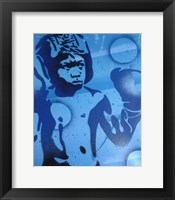 Framed Blue Boxer