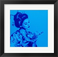 Framed Blue Geisha
