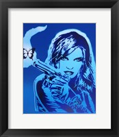 Framed Girls Guns And Butterflies