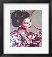Framed Marble Geisha