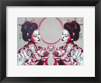 Framed Mirror Geisha