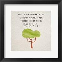 Framed Best Time to Plant a Tree
