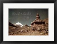 Framed Vintage Mount Kailash, Tibet, Asia