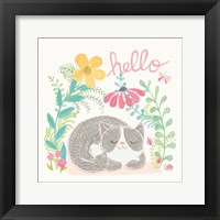 Framed Garden Friends White VI