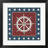 Framed Coastal Americana IV