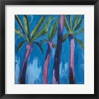Framed Palm Trees with Pink