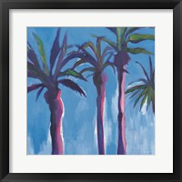 Framed Palm Trees Morocco with Pink