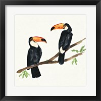 Framed Tropical Fun Bird I