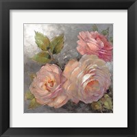 Framed Roses on Gray II