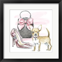 Framed Glamour Pups I