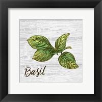 Framed Basil on Wood