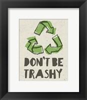 Framed Don't be Trashy 2