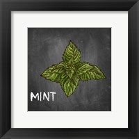 Framed Mint on Chalkboard