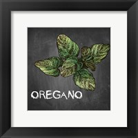 Framed Oregano on Chalkboard