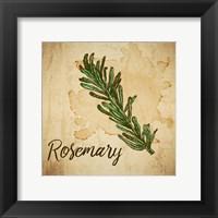 Framed Rosemary on Burlap
