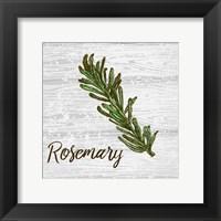Framed Rosemary on Wood