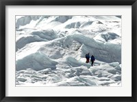 Framed Climbers Return to Base Camp from Khumbu Icefall climbing, Mt Everest