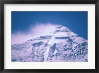Framed Snowy Summit of Mt Everest, Tibet, China