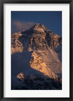 Framed Mt Everest at Sunset From Rongbuk, Tibet