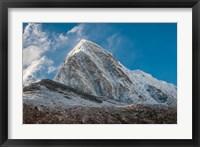 Framed Mt Pumori behind Kala Patthar, Nepal