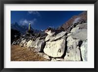 Framed Tengboche Monastery, Nepal