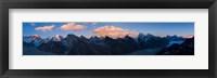 Framed Mt Everest, Himalayas, Nepal