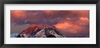 Framed Snowcapped Mountain Peaks, Mt Everest, Himalayas