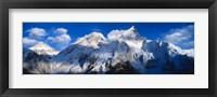 Framed Everest & Nuptse Sagamartha National Park Nepal