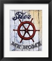 Framed Shipwheel