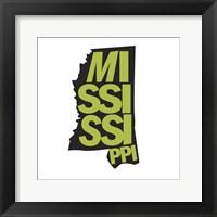 Framed Mississippi Letters