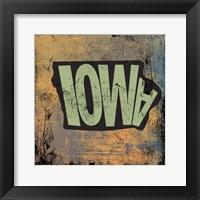 Framed Iowa
