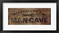 Framed Mancave with Wrench