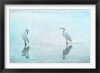 Framed White Cranes