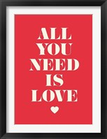 Framed All You Need Is Love