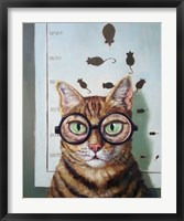 Framed Feline Cat Exam