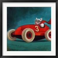 Framed Speed Racer