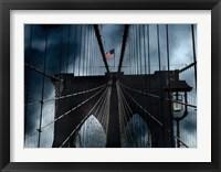 Framed Stars and Stripes on Brooklyn Bridge