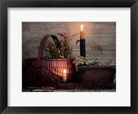 Framed Red Basket