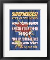 Framed Superheroes Bath II