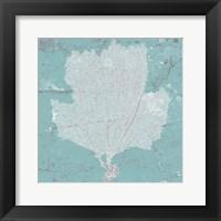 Framed Graphic Sea Fan III