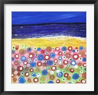 Framed Flowers by the Beach