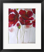 Framed Red Poppies