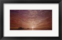Framed Purple Sunset Boating