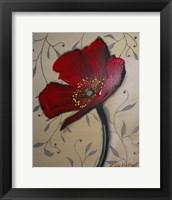 Framed Single Red Poppy