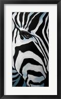Framed Zebra Long Face