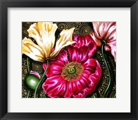 Framed Iceland Poppies