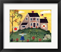 Framed Scarecrow Pumpkin Sheeppsd